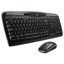 Клавиатура и мышь Logitech Wireless Combo MK330 Black USB