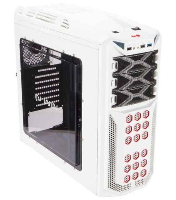 Корпус INWIN BWR145W Midi Tower, ATX, mATX, 600W, 2xUSB2.0+mic+Audio, белый