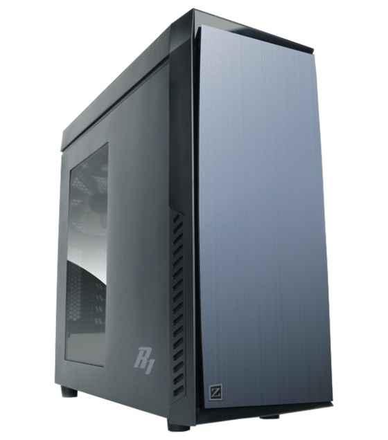 Корпус ZALMAN R1, без БП, боковое окно, черный, ATX