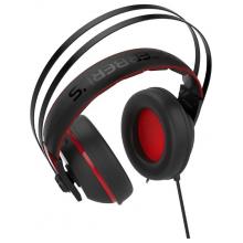 Компьютерная гарнитура ASUS Cerberus V2 красный/черный проводные (оголовье)