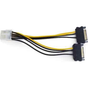 Переходник питания для видеокарты 2xSATA to PCI-E 8pin Cablexpert (CC-PSU-83)