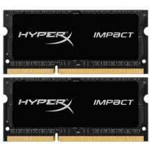 Модуль памяти DDR3 Kingston HyperX Impact Black SO-DIMM DDR3L 16Gb 2x8Gb 1866MHz HX318LS11IBK2/16