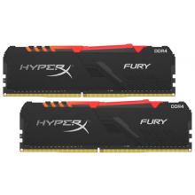 Оперативная память HyperX Fury RGB 64GB (32GBx2) DDR4 3200MHz DIMM 288-pin CL16 HX432C16FB3AK2/64