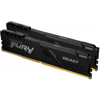 Оперативная память 16Gb Kingston Fury Beast DDR4 3200MHz (KF432C16BBK2/16)