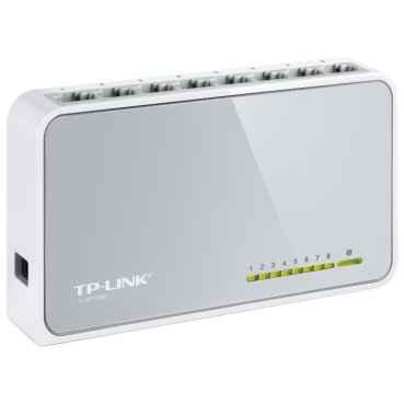 TP-Link Коммутатор TL-SF1008D, 8 портов Ethernet 100 Мбит/с