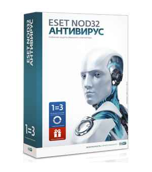 Антивирус ESET NOD32 + Bonus, лицензия на 1 год на 3 ПК