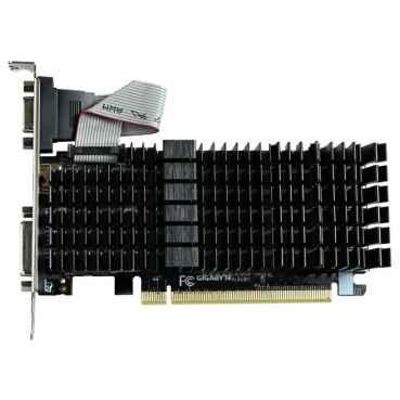 Видеокарта GIGABYTE GeForce GT 710 954Mhz PCI-E 2.0 1024Mb 1800Mhz 64 bit DVI HDMI HDCP Silent