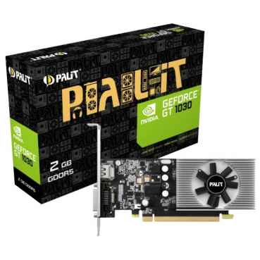 Видеокарта Palit GeForce GT 1030 1227MHz PCI-E 3.0 2048MB 6000MHz 64 bit DVI HDMI HDCP Low Profile PA-GT1030-2GD5
